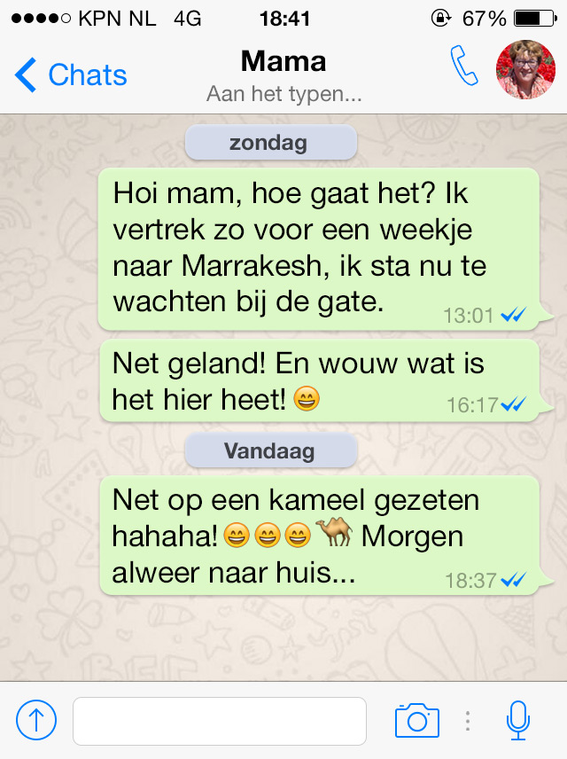Hoe kan je flirten op whatsapp